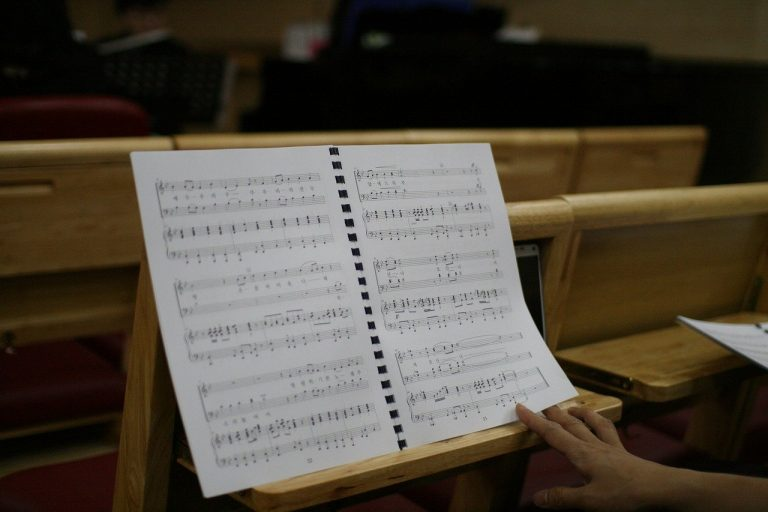 sheet music, church, praise