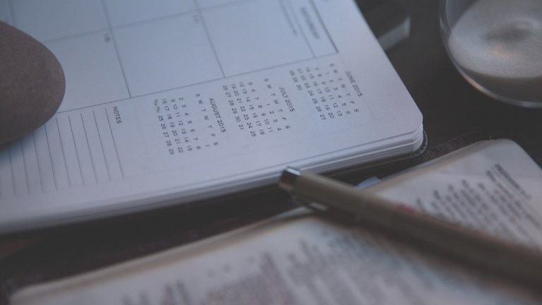 diary, notebook, calendars